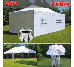 Быстросборный шатер гармошка со стенками 3х6м белый