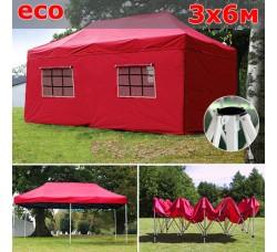 Быстросборный шатер гармошка со стенками 3х6м красный