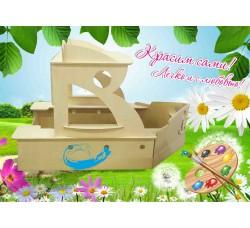 Детский игровой домик-песочница «Кораблик»