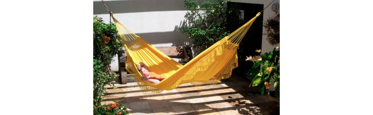 Гамак двухместный FORRO (Бразилия) желтый