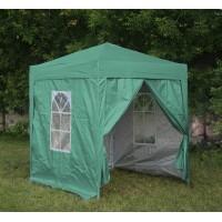 Шатер гармошка 2х2м, 4 стенки, зеленый