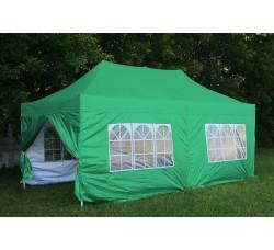 Шатер гармошка 3х6, зеленый, 4 стенки