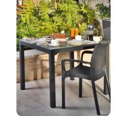 Комплект мебели стол Sumatra и 4 стула Bali Mono