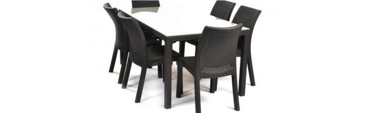 Комплект Стол Samoa (Самоа) и 6 стульев Toscana (Тоскана)