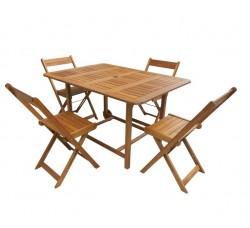 Комплект мебели Нью Йорк стол и 4 складных стула