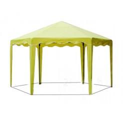 Садовый Тент  6 граней по 2 м., усиленный каркас, без стенок, желтый
