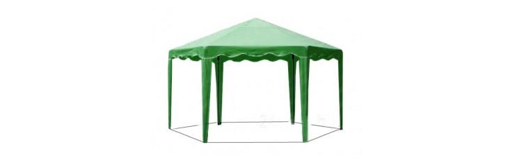 Садовый Тент 6 граней по 2 м., усиленный каркас, без стенок, зеленый