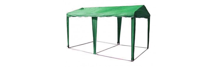 ШАТЕР-БЕСЕДКА МИТЕК 6х3м, усиленный каркас, без стенок, зеленый