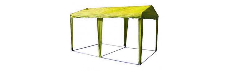 ШАТЕР-БЕСЕДКА МИТЕК 5 х 2,5, усиленный каркас, без стенок, желтый