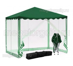 Быстросборный шатер автомат 3х3м (Green Glade 3001) с 4 сетками