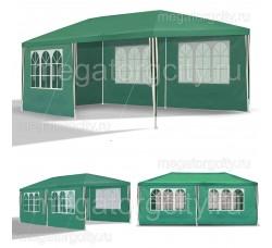Садовый шатер Green Glade 1057,  3х6м со стенками, полностью зеленый