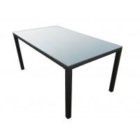 Стол искусственный ротанг со стеклом Лина 160х90