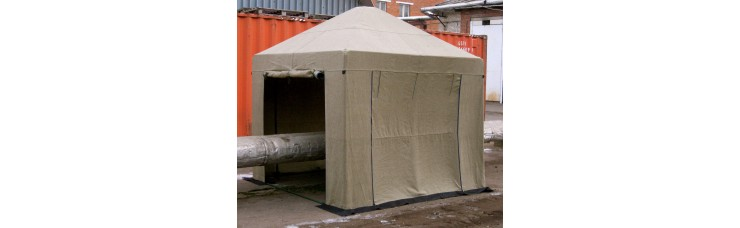 Палатка сварщика и для строительных работ 2,5 х 2,5 м. (МИТ)