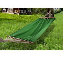 гамак из льна с планкой зеленый