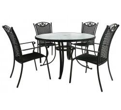 Садовый комплект мебели VERONA (стол и 4 стула)