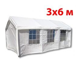 Тент шатер 3x6 м 36201W белый ПВХ