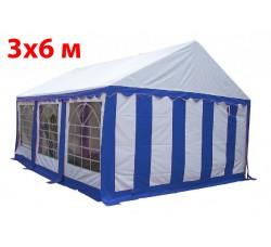 Шатер тент 3x6 м бело синий