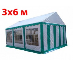 Шатер тент 3x6 м бело зеленый