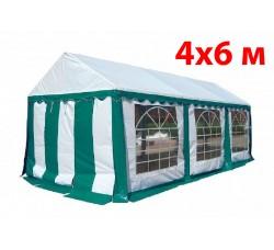 Шатер павильон 4x6 м бело зеленый