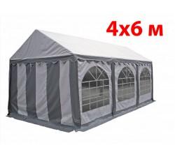 Шатер павильон 4x6 м бело серый