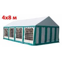 Шатер павильон 4x8 м бело зеленый ПВХ