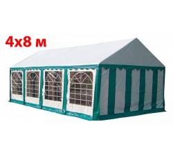 Шатер павильон 4x8 м бело синий