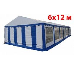 Шатер павильон 6x12 м бело синий