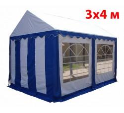 Шатер тент 3x4 м бело синий