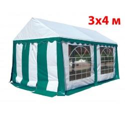 Шатер тент 3x4 м бело зеленый