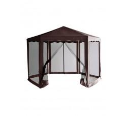 """Тент шатер с москитной сеткой """"Шоколад"""""""