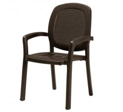 Кресло GAMMA кофе, вставка TRAMA CAFFE