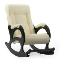 Кресло-качалка, модель 44 экокожа с подножкой без лозы