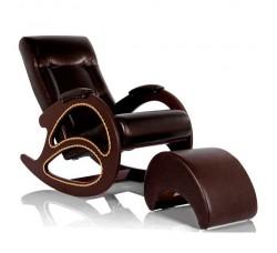 Кресло-качалка, модель 4 экокожа с банкеткой