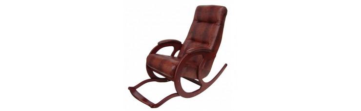 Кресло-качалка из экокожи Блюз-5 с подножкой