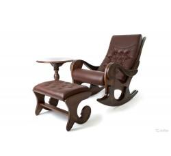 Кресло-качалка Грация с банкеткой и чайным столиком, с росписью