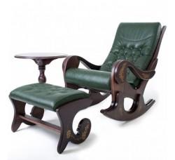 Кресло-качалка Грация с банкеткой и чайным столиком, без росписи