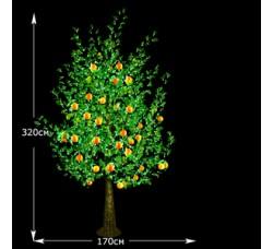 LED Апельсин с плодами 320см