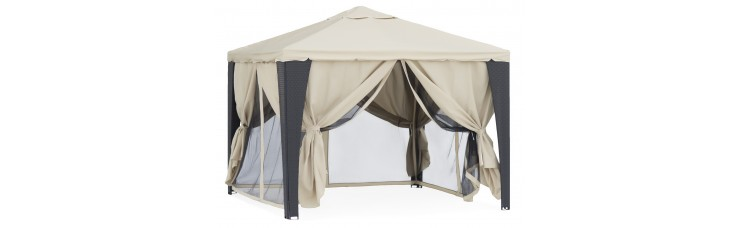 Беседка шатер (Green Glade YF-3176) 3х3 м из полиротанга