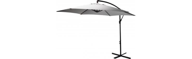 Зонт садовый складной Koopman ф300 купол светло-серый FC3000110