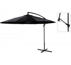 Зонт садовый складной Koopman ф300 купол черный FD1000100