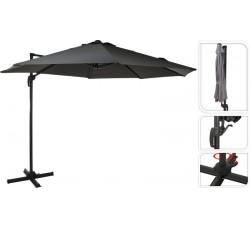 Зонт садовый складной Koopman ф300 купол серый FD4300900