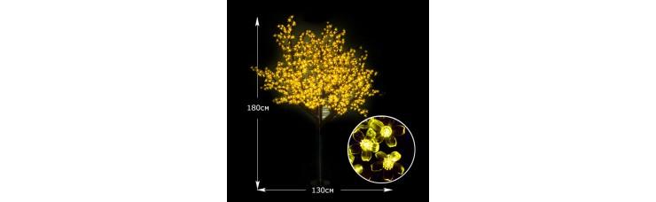 Световое дерево Сакура 180см желтый