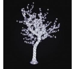 "LED дерево ""Сакура с белыми цветами"" 1,8м, акриловый ствол"