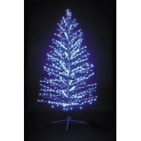 "LED-""Ель""синяя, 180см,600 светодиодов, с синими шариками"