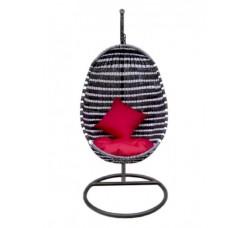 Подвесное кресло Эльба, черно-белое