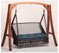 Деревянный каркас VILLA для подвесных качелей + москитная сетка