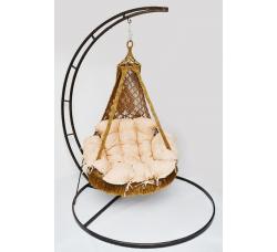 Подвесное плетеное кресло-гамак NEMESIS с каркасом + балдахин