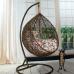 Каркас стойка для подвесного кресла, оплетка ротангом, коричневый Lider