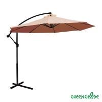 Зонт садовый Green Glade 8003 светло-коричневый D 3м