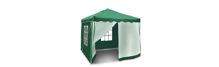 Быстросборный шатер автомат 3х3м (Green Glade 3001) 2 стенки зеленые 2 москитные
